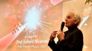Conférence du Pr Mourou, Prix Nobel de Physique 2018