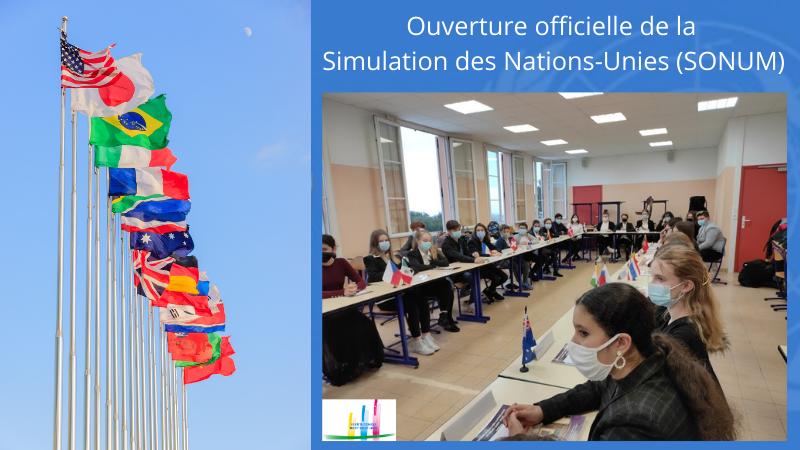 Ouverture officielle de la Simulation des Nations-Unies au MSJ